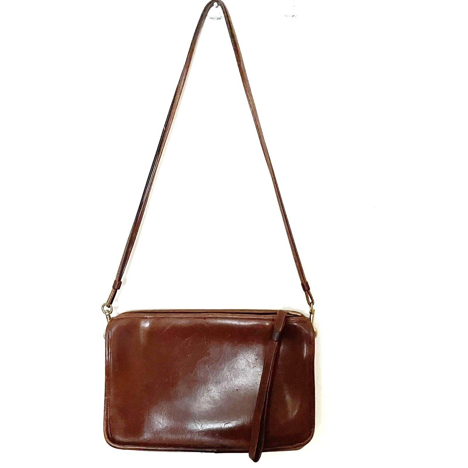 COACH Vintage Bonnie Cashin Brown Leather Shoulde… - image 1