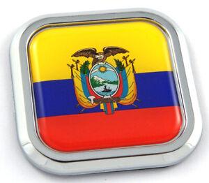 2 Ecuador Flag Decals Stickers