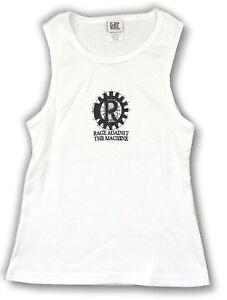 Rage-Against-The-Machine-R-Logo-Girls-Juniors-White-Tank-Top-Shirt-New-Official