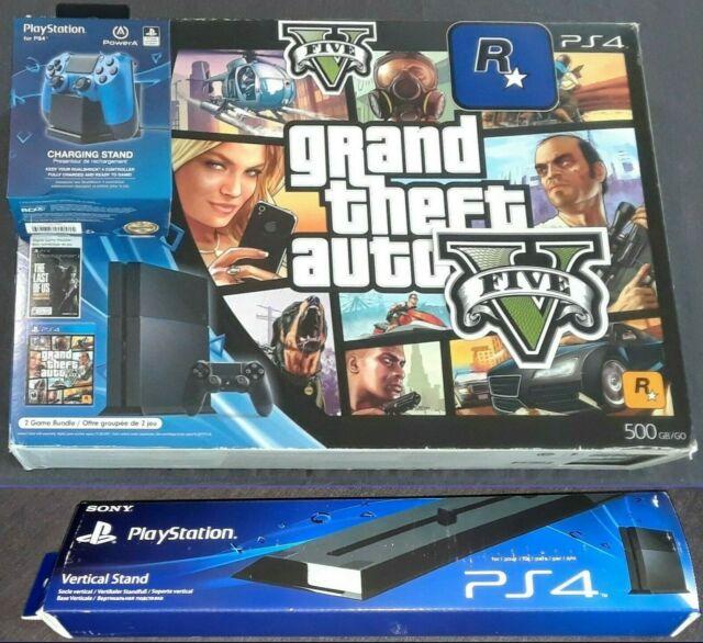 New Grand Theft Auto 5 Black Friday Edition Playstation 4 Gta V Ps4 Bundle Ebay