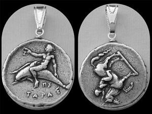 Taras-Son-of-Poseidon-Horse-and-Dolphins-Silver-Plated-Coin-Pendant