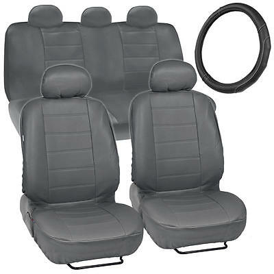 9PC Quilted Polyester Car Seat Covers Set For Volvo V50 2004-2012