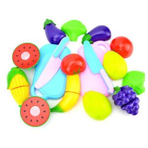 Lebensmittel 1X 24 STueCKE Kinder Spielhaus Spielzeug Cut