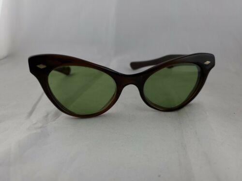 Vtg Frame France Sunglasses Brown Cateye  5 1/4 as