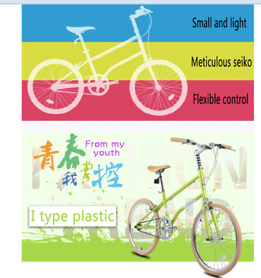 New Bicycle Bike small wheel 20-inch Women Men City Leisure FG211 light green