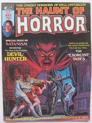 The Haunt of Horror #2 (1974) Satana + Marvel writers debate 'TheExorcist' - VF