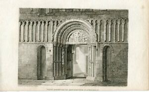 West-Doorway-Of-Rochester-Cathedral-Engraving-By-R-Roffe-A-Drawing-F-Mack