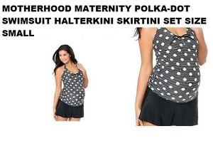Set a Maternità Piccola bagno Skirtini da Taglia Halterkini da Costume pois Nuovo Maternità xfI0qq