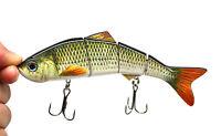 Multi-jointed Bass Pike Fishing Lure Crank Bait Swimbait Life-like Shad Minnow
