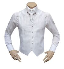 Muga Hochzeitsweste+Plastron+Tuch*22wei*Gr.54 Weiß