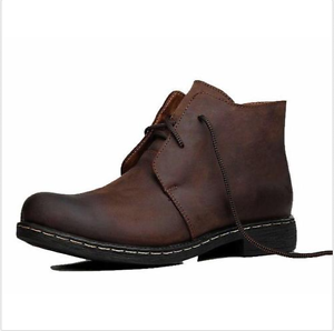 new men worker ankle chukka desert real leather casual
