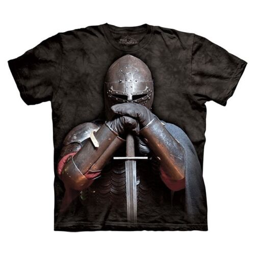 The Mountain 100/% Cotton Kid/'s T-Shirt Youth Tee  Medieval Knight S /& M NWT