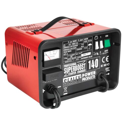 SUPERBOOST140 Sealey Battery//Booster//Starter//Charger 140//21Amp 12V 230V
