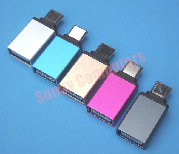 2x Type-C Male to USB 3 0 Female OTG Adapter For Lenovo Yoga