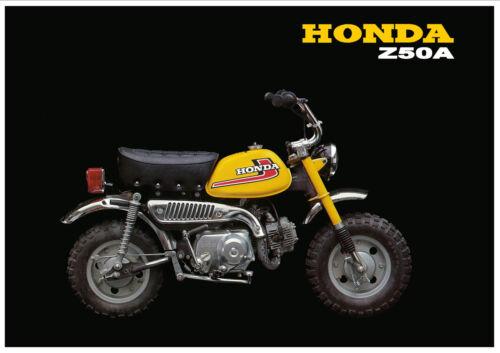 HONDA Poster Classic Z50A Z50 1976 Mini Monkey Bike Suitable to Frame