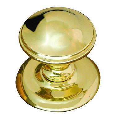 Polished Brass Round Centre Front Door Knob Door Pull 65mm Diameter// 72mm Rose