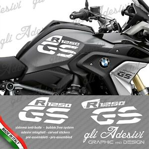Set-Adesivi-Fianco-Serbatoio-Moto-BMW-R-1250-gs-LC-standard-Bianco