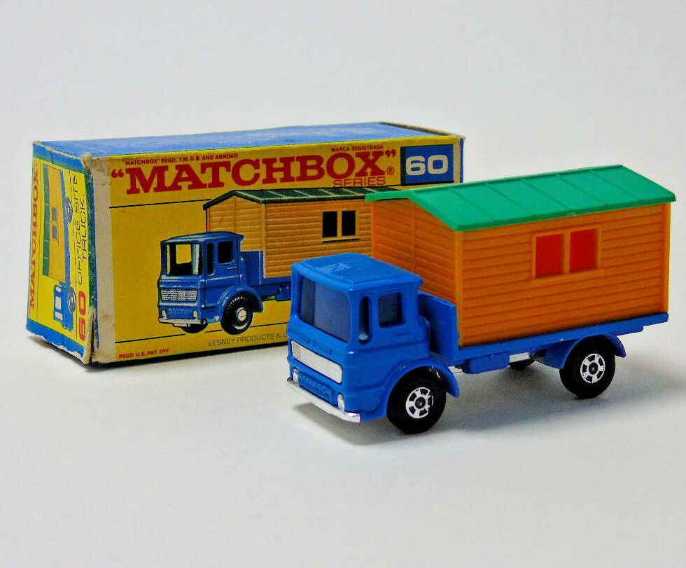 No.60 Matchbox Superfast Lesney Bleu Bureau Site Camion 1 64 Échelle en Boite