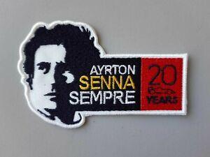 AYRTON-SENNA-SEMPRE-COLLECTION-20-YEARS-TOPPA-PATCH-INEDITO-TERMOADESIVO