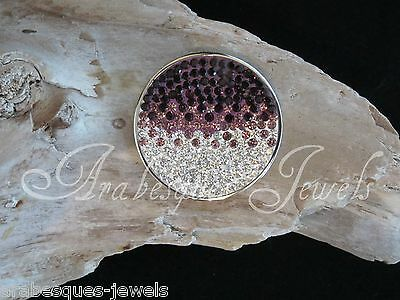 SMALL GENUINE STERLINA MI MILANO TRI CRYSTAL COIN/MONEDA FOR PENDANT/KEEPER AJMM