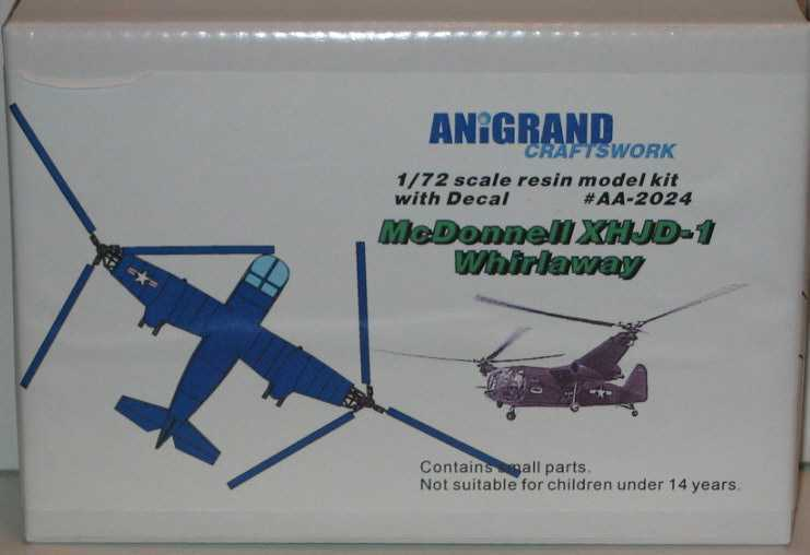 Anigrand Models 1 72 McDONNELL XHJD-1 WHIRLAWAY Helicopter