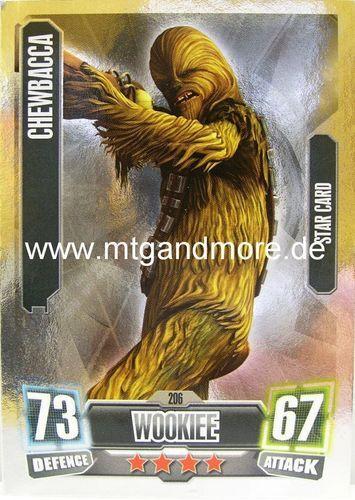 Chewbacca #206 star-Force Attax série 2