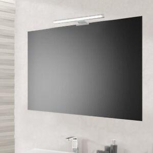 Specchio semplice per bagno 90x60 reversibile con supporti e lampada ...