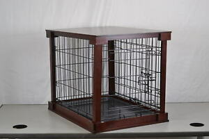 Zoovilla-Indoor-Wooden-End-Table-Dog-Kennel-Cage-Crate-With-Cover-Mahogany