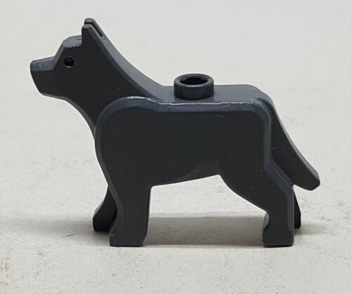LEGO Schäfer CANE NUOVO GRIGIO SCURO cane animali 48812 per 7324 4755 4756...