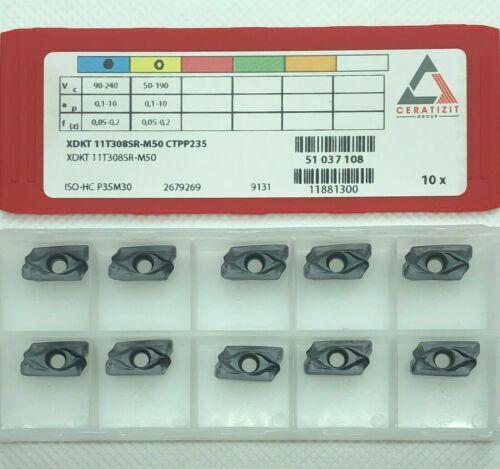 CERATIZIT Milling Inserts XDKT11T308SR-M50 CTPP235 ORIGINAL NEU 10 pcs Invoice!