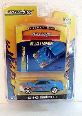2009 GREENLIGHT UP IN FLAMES 2009 DODGE CHALLENGER MUSCLE CAR GARAGE SERIES 2
