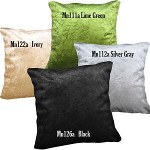 Mn-Black-Gray-Lime-Ivory-Crushed-Crinkle-Velvet-Pillow-Case-Cushion-Cover-Custom