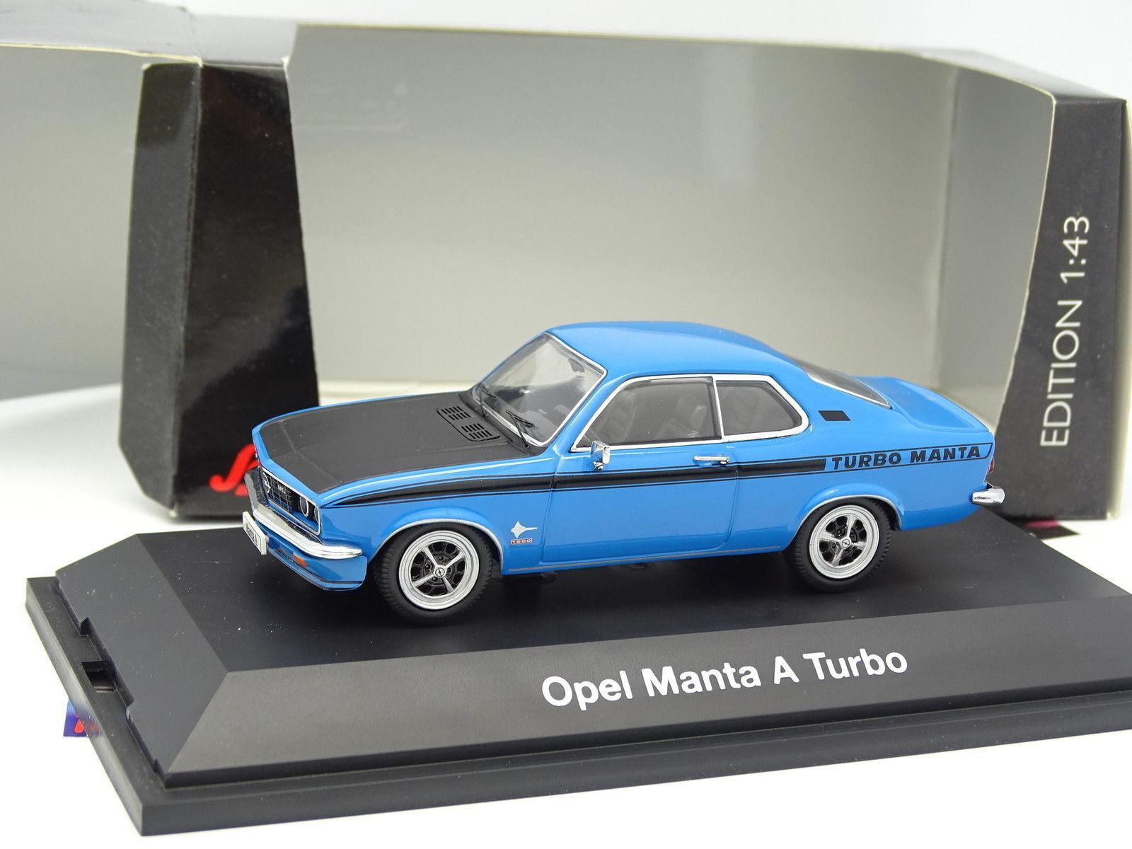 Schuco 1 43  - Opel Manta A Turbo Bleue  populaire
