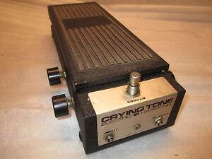 80's Electro Harmonix Crying Tone Wah Pedal-afficher Le Titre D'origine