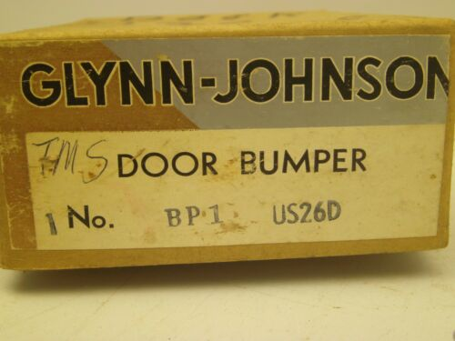 VINTAGE Glynn-Johnson COMMERCIAL DOOR BUMPER STAINLESS ORIG BOX W//HARDWARE BB