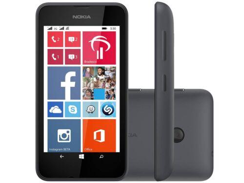 Nuevo Nokia Lumia 530 Negro 4GB Windows 3G Wifi Gps Desbloqueado Windows 8 Teléfono Inteligente