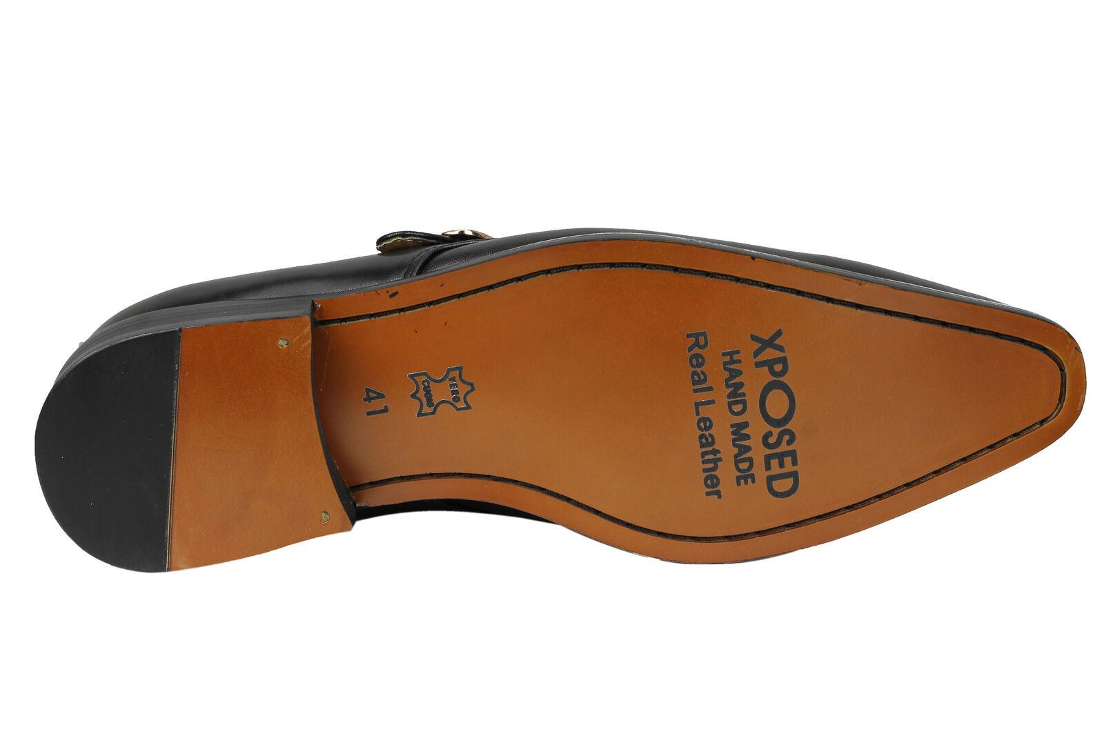 Véritable en poli pour homme en Véritable cuir noir sangle moine unique vintage Mod Chaussures 29c19c