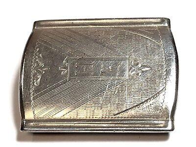 925 Sterling Silver Antique Marsh Letter S Initial Design Slide Belt Buckle