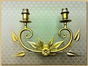 Applique lampada muro finitura oro francese mod adone articolo