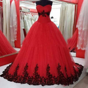 76d72c779ba Red Black Quinceanera Dresses For 15 Years Formal Prom Dress Party