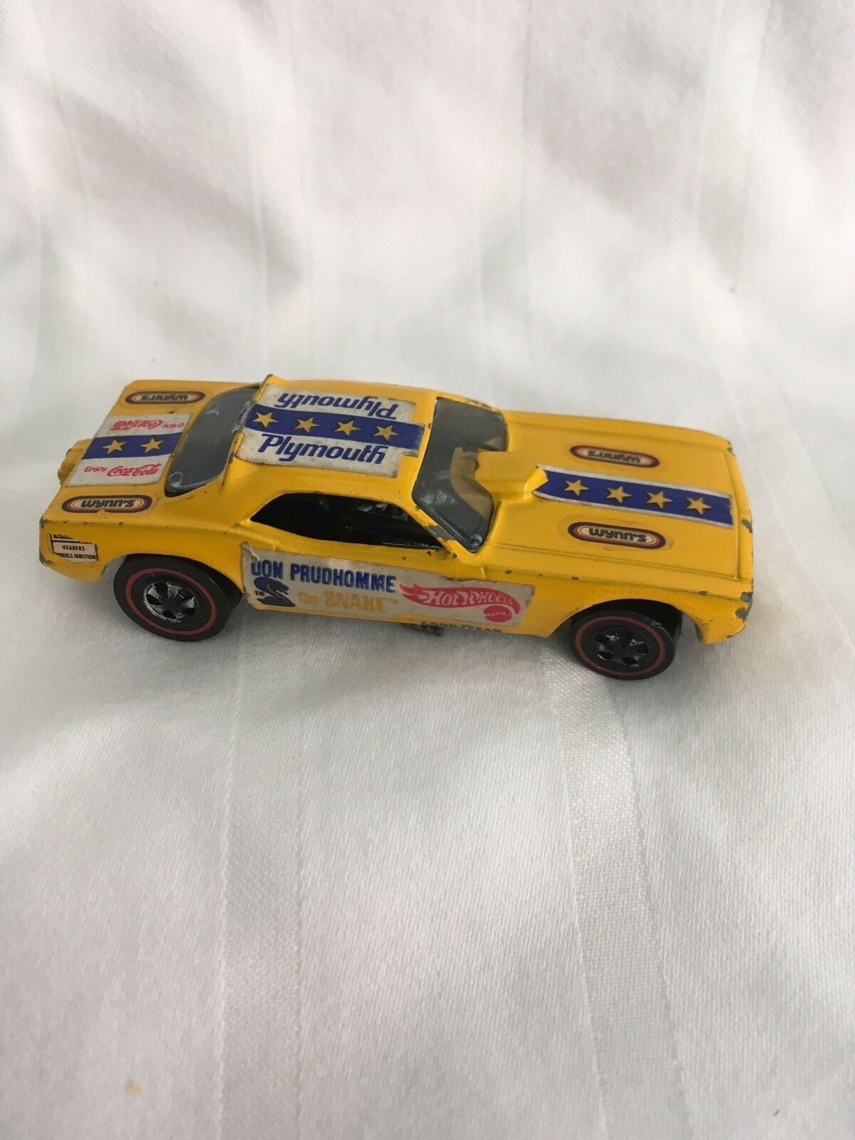 Hot Wheels 1969 1969 1969 Don Prudhomme The Snake Funny Car Yellow Diecast Hong Kong 013dab