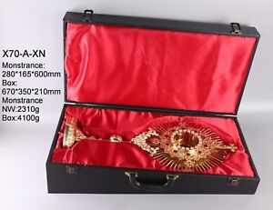 Gold-Monstrance-23-3-5-034-tall-Zircon-Decorated-with-Luna-and-Case-X70-A-XN