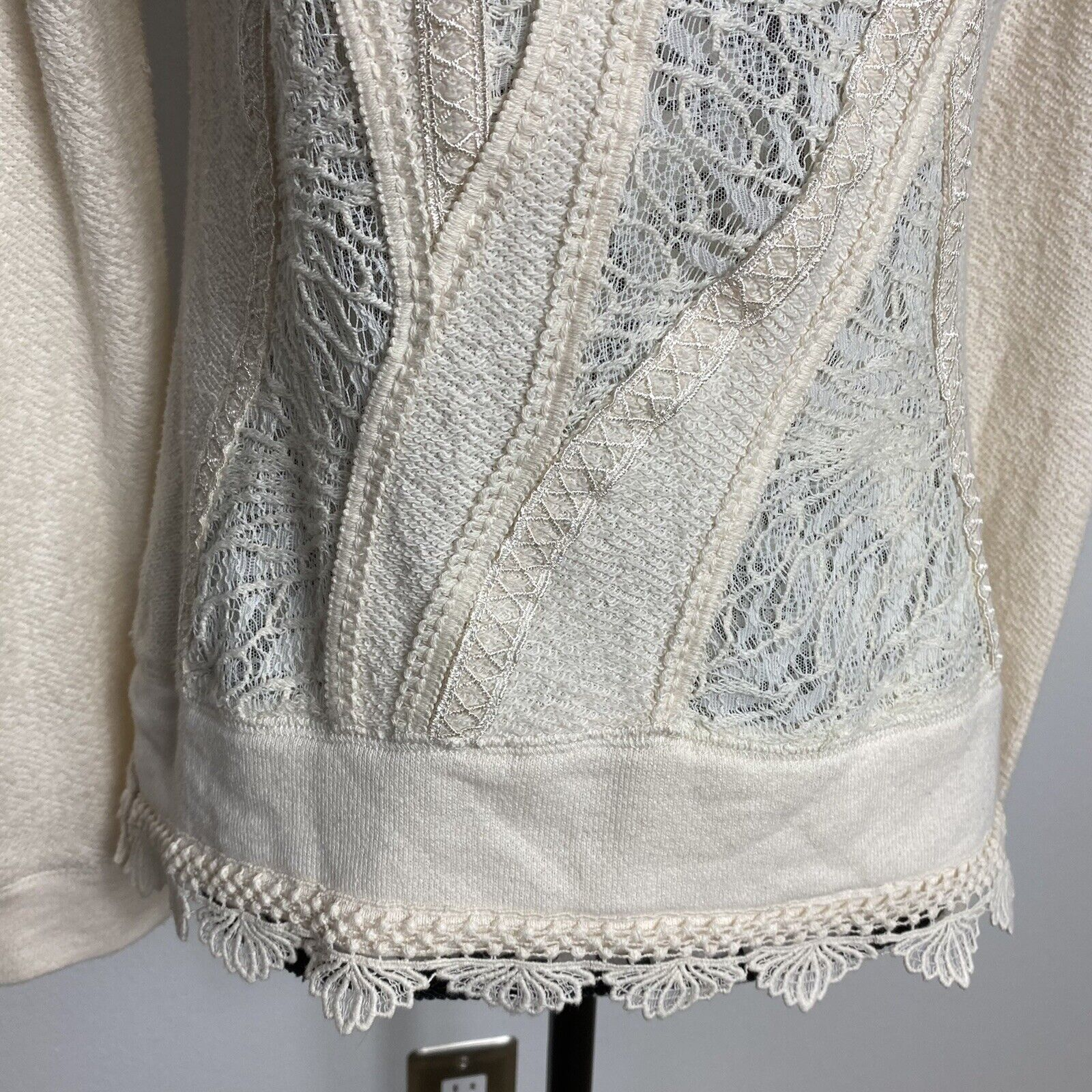 Angel Of The North Fairycore Lace Detail Sweater … - image 3