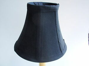 Image Is Loading Black Fabric Covered Mini Lampshade Chandelier Tabletop Clip