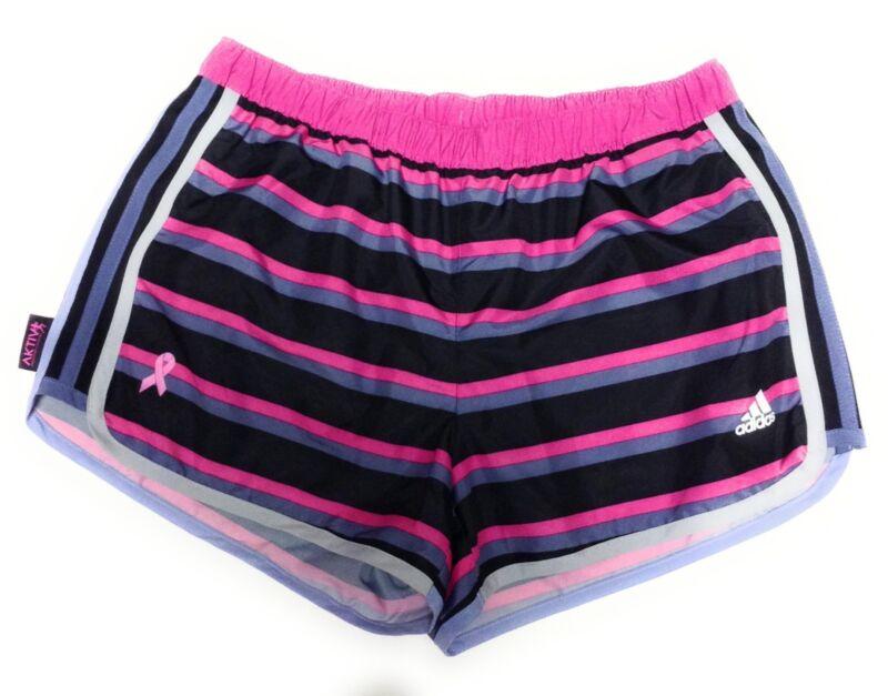 New Womens Adidas Aktiv Against Cancer Black Pink Grey Running Athletic Shorts