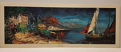 1 Peter Brouwer Seaside in Black Vintage Lithograph Art Print Series No
