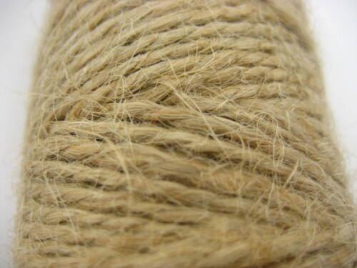 Nouveau 30 M Naturel Marron Jute Ficelle String À faire soi-même Shabby Style Rustique tige Craft Jute