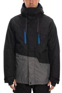 686-Men-039-s-Geo-Insulated-Jacket-Black-Colorblock-L-Snowboard-Jacke