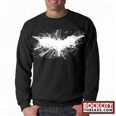 BATMAN DARK KNIGHT CREW NECK Hooded Sweatshirt Joker Symbol Comic Bane  Rises | eBay