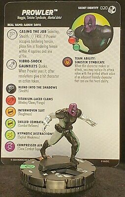 020 Uncommon PROWLER Spider-Man /& Venom Absolute Carnage Heroclix #20